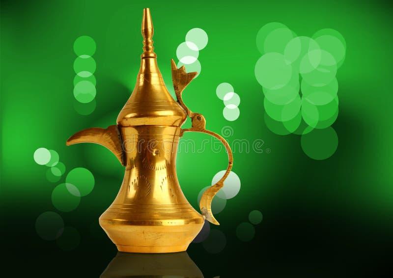 传统阿拉伯咖啡dallah的罐 库存图片