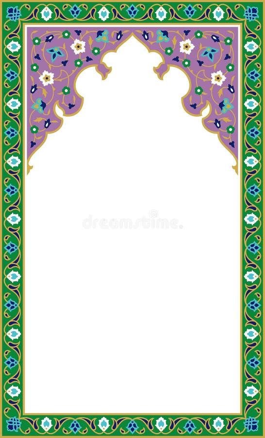 传统阿拉伯花卉框架 皇族释放例证