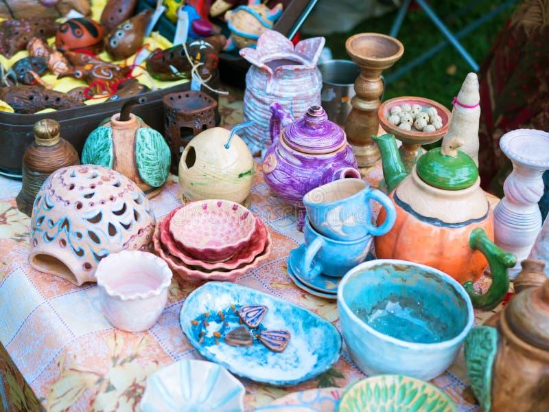 传统陶瓷产品,手工制造纪念品 库存照片