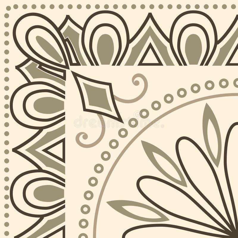 传统陶瓷装饰瓦片的现代装饰 皇族释放例证