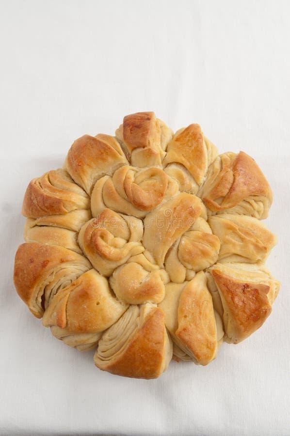 传统面包保加利亚圣诞节的pita 免版税库存图片