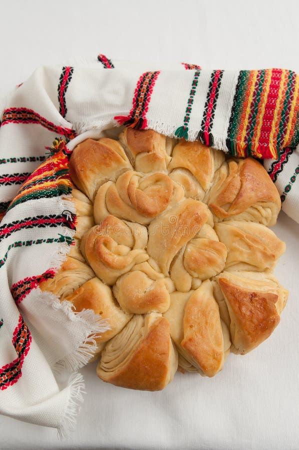 传统面包保加利亚圣诞节的pita 库存图片
