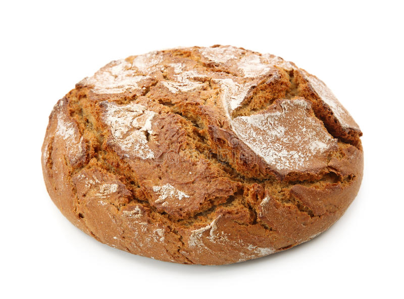 传统面包来回的黑麦 免版税库存图片