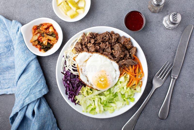 传统韩国朝鲜拌饭 库存照片