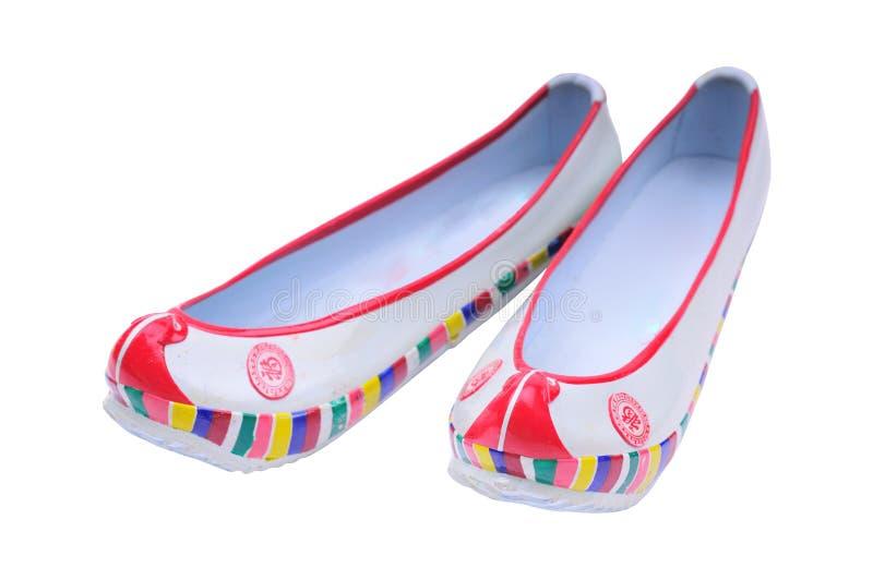 传统韩文橡胶的鞋子 免版税库存照片