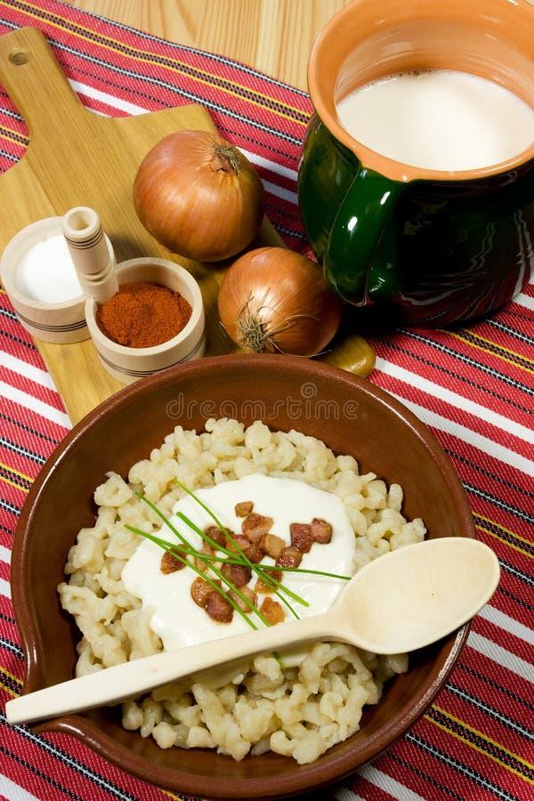 传统食物的斯洛伐克 免版税库存图片