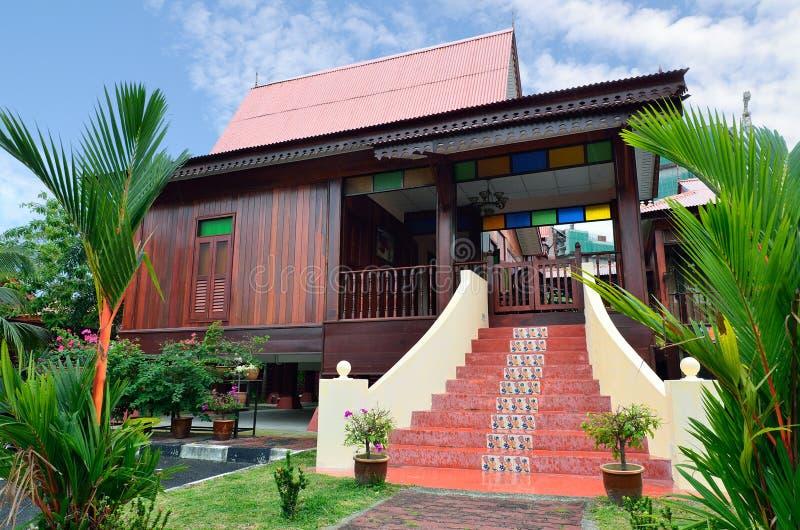 传统马来的之家 免版税库存照片
