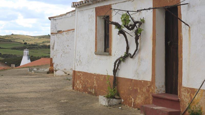 传统alentejo的房子 免版税库存照片