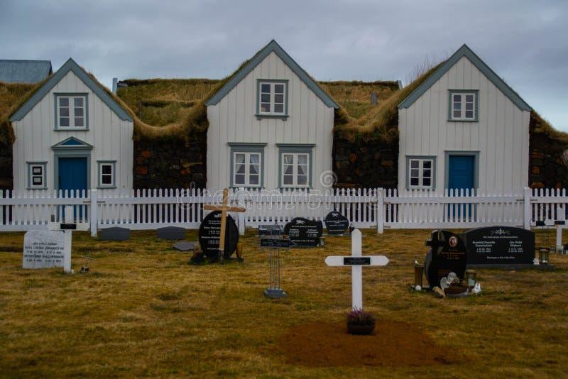 传统Grenjadarstadur农厂房子,冰岛 免版税库存图片