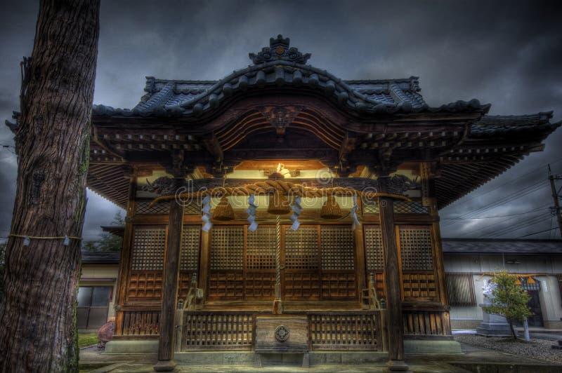 传统hdr的寺庙 免版税库存照片