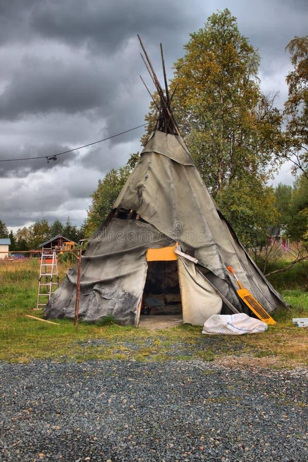 传统sami帐篷 库存图片