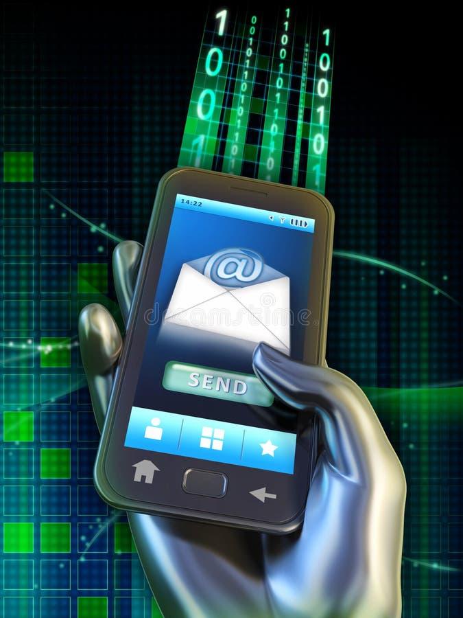 传讯移动电话 向量例证