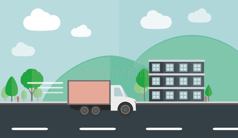 传讯者司机概念平的传染媒介样式 免版税库存图片