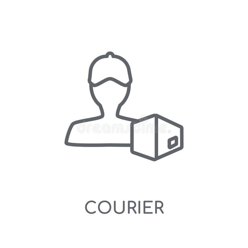 传讯者线性象 在丝毫的现代概述传讯者商标概念 库存例证