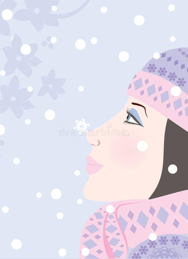 传说冬天 向量例证