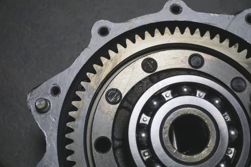 传输 金属齿轮 库存照片