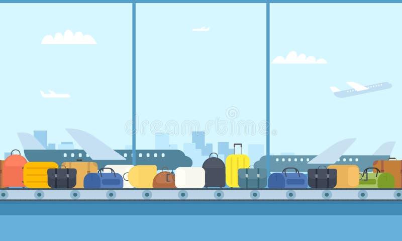 传送带在机场 库存例证