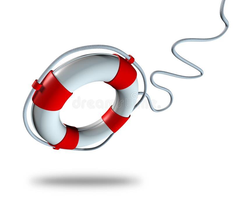 传送带查出的救生衣符号 库存例证