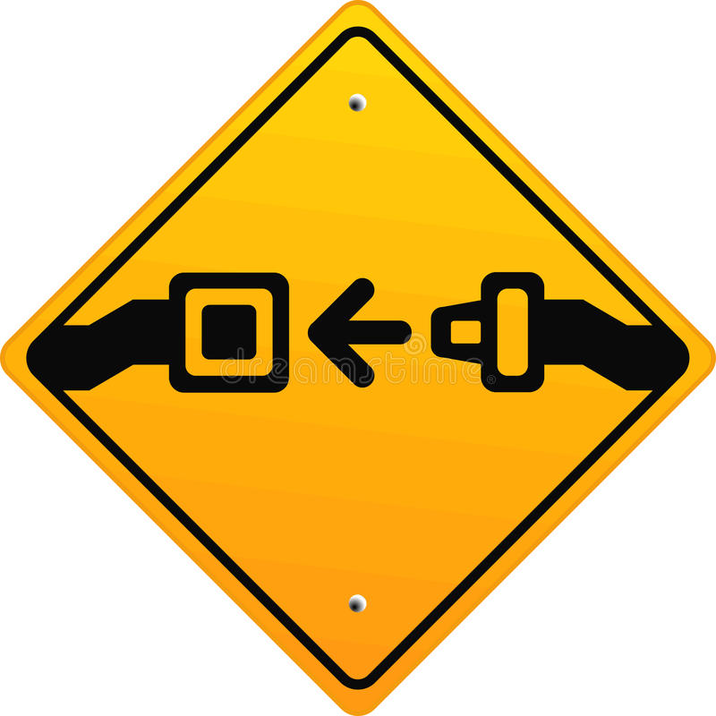 传送带紧固您的位子 库存例证