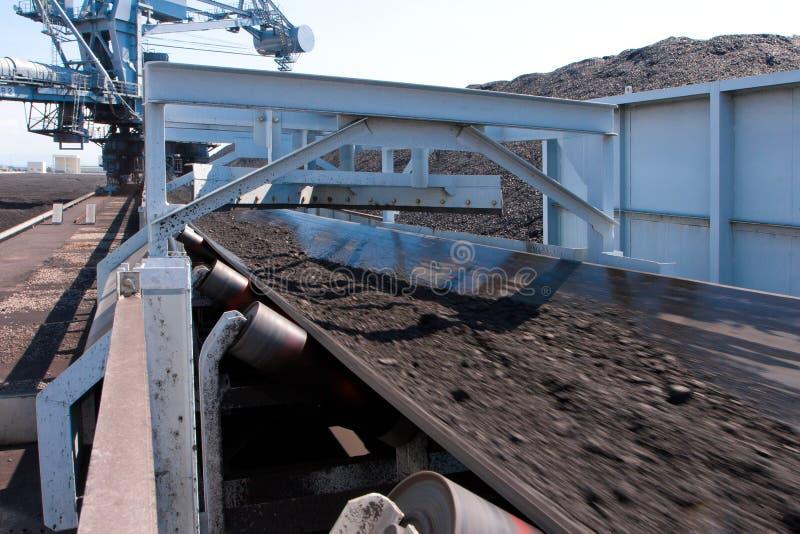 传送带褐煤运输 免版税图库摄影