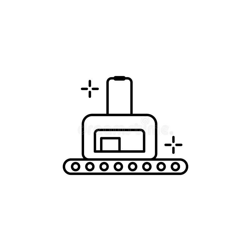 传送带,机场象 机场线颜色象的元素 库存例证