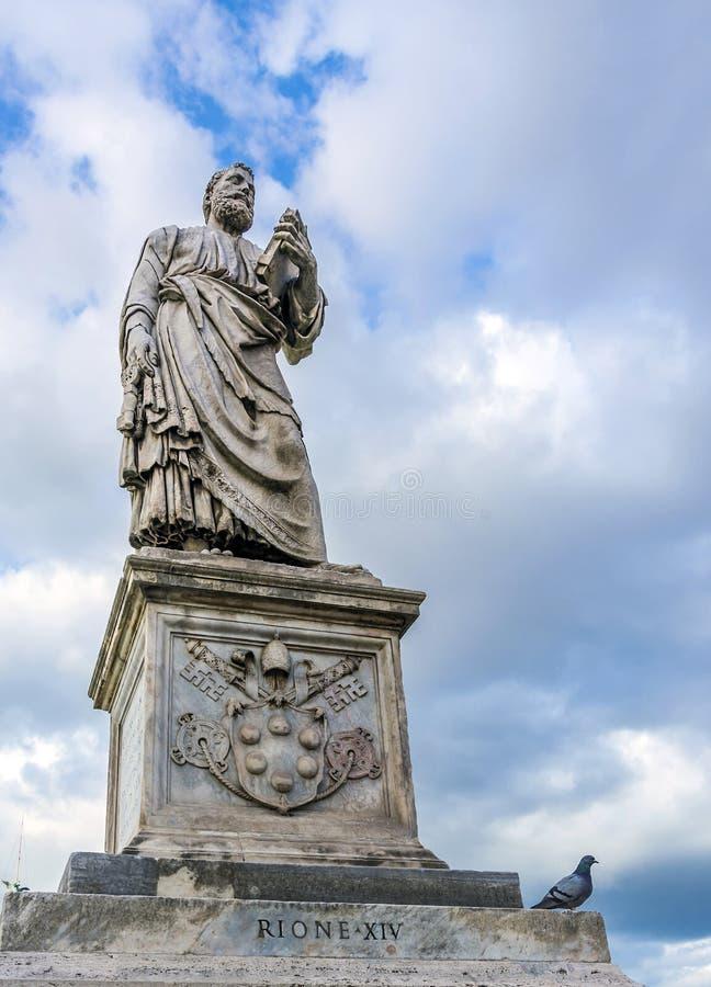 传道者圣皮特圣徒・彼得雕象  库存图片