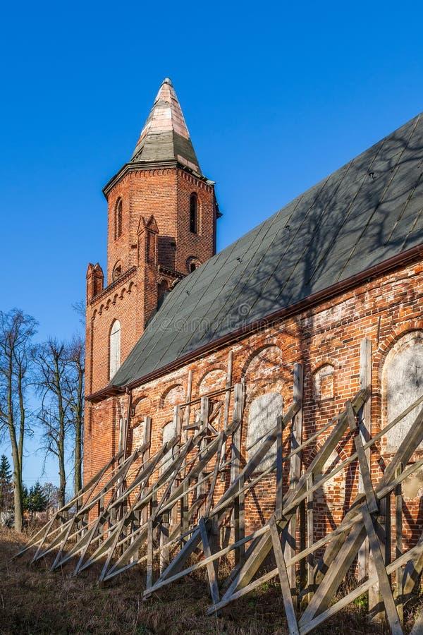 传道者西蒙和茱迪的教会的废墟 库存照片