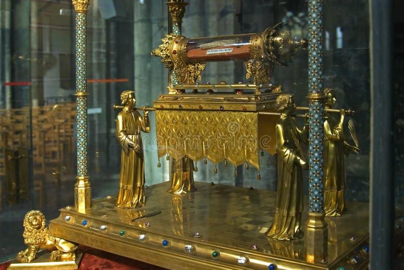 传道者詹姆斯的遗物越少,列日,比利时 免版税库存图片