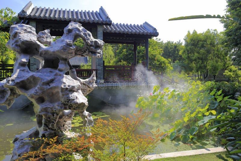 传统中国的庭院 免版税库存照片