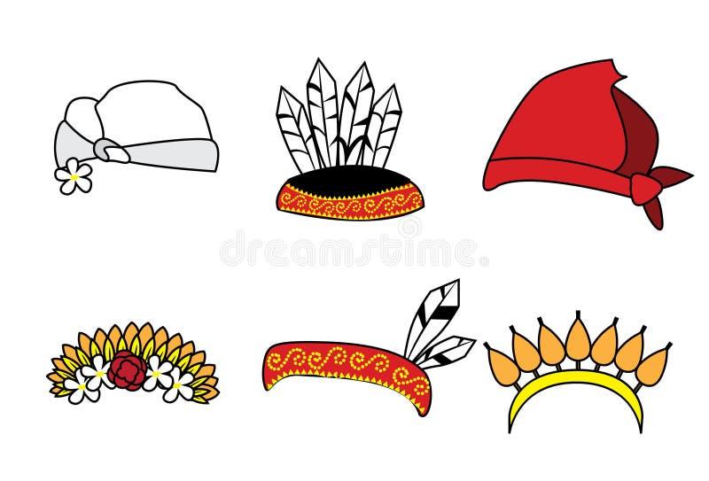 传统亚洲夫妇帽子 免版税库存图片