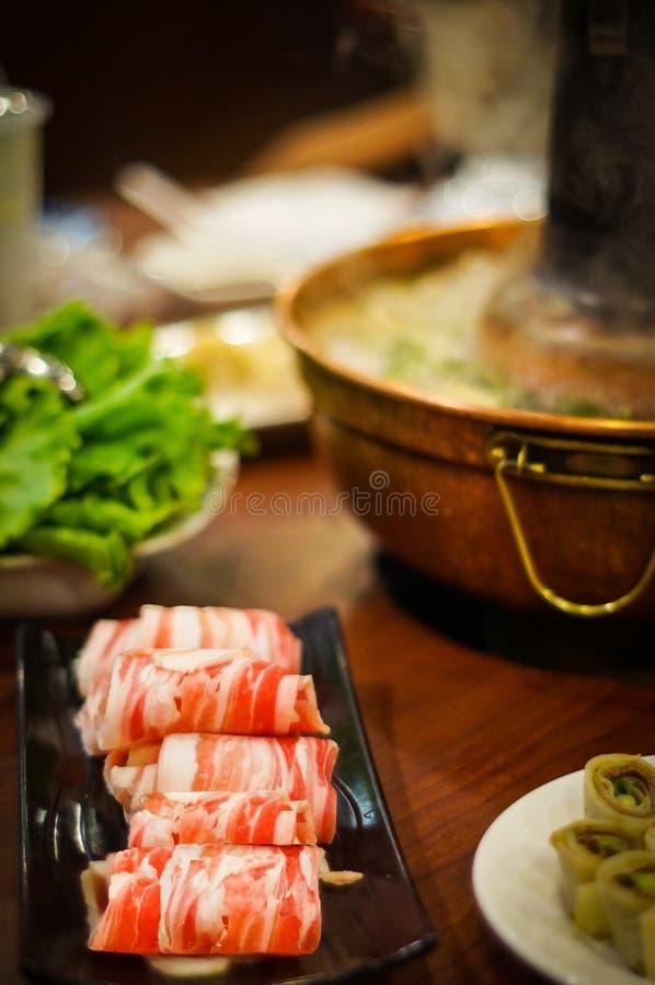 传统亚洲热的罐 免版税图库摄影