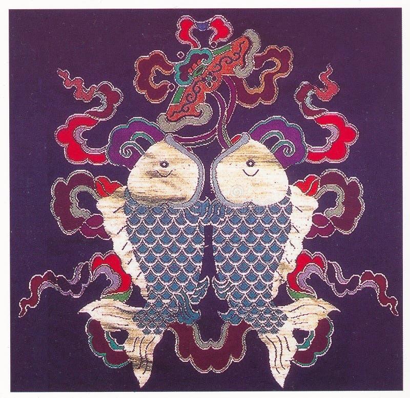 传统刺绣 免版税库存图片
