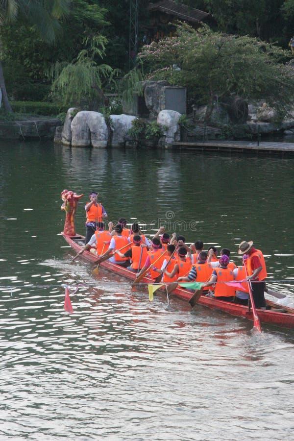 传统活动在中国--龙舟赛 免版税库存图片
