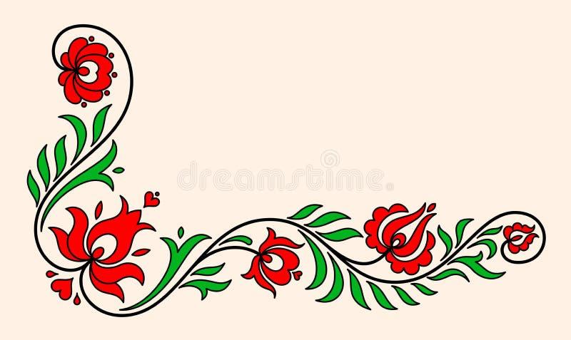 传统匈牙利花卉主题 免版税库存照片