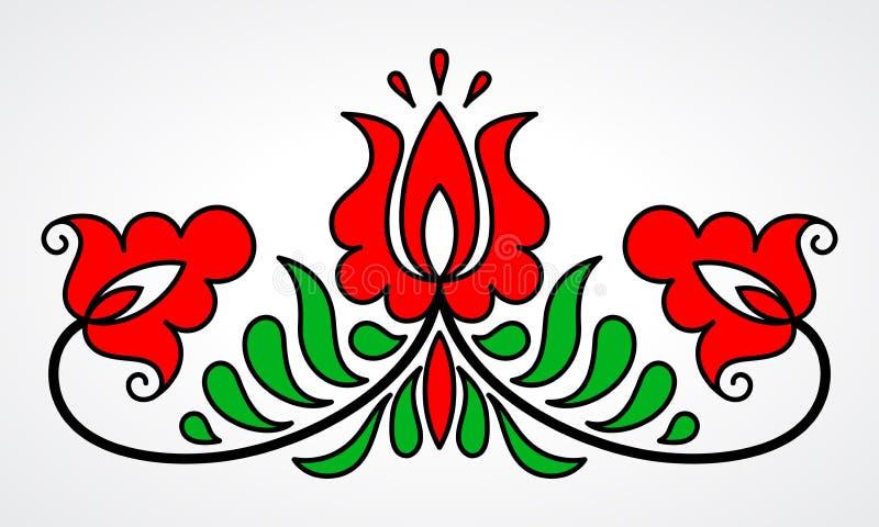 传统匈牙利花卉主题 库存照片