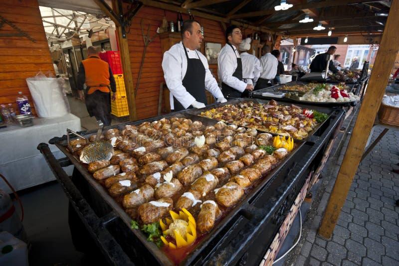 传统匈牙利食物:白菜卷 免版税库存照片