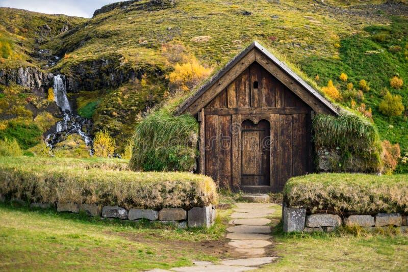 传统北欧海盗房子 图库摄影