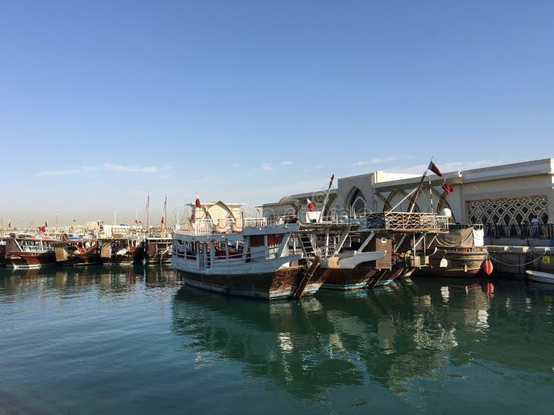 传统单桅三角帆船,阿拉伯帆船 免版税库存照片