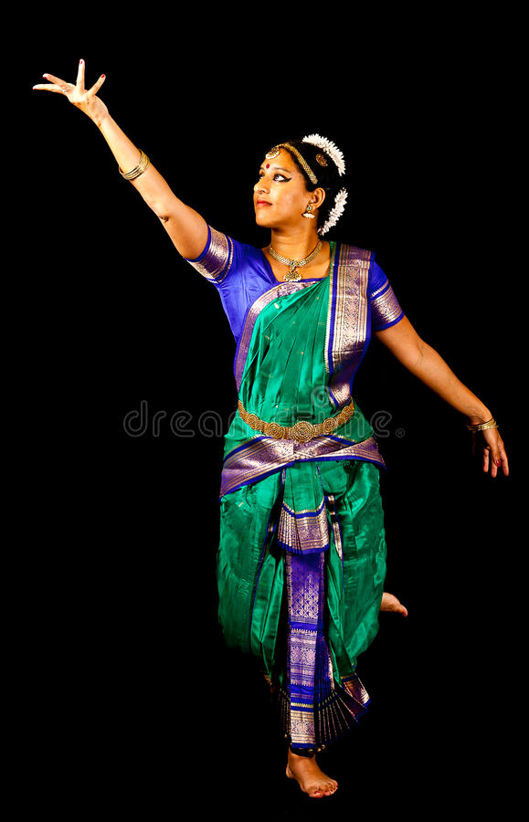 传统印地安舞蹈表示 库存图片