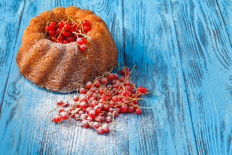 传统圆环蛋糕用复活节的莓果 库存照片