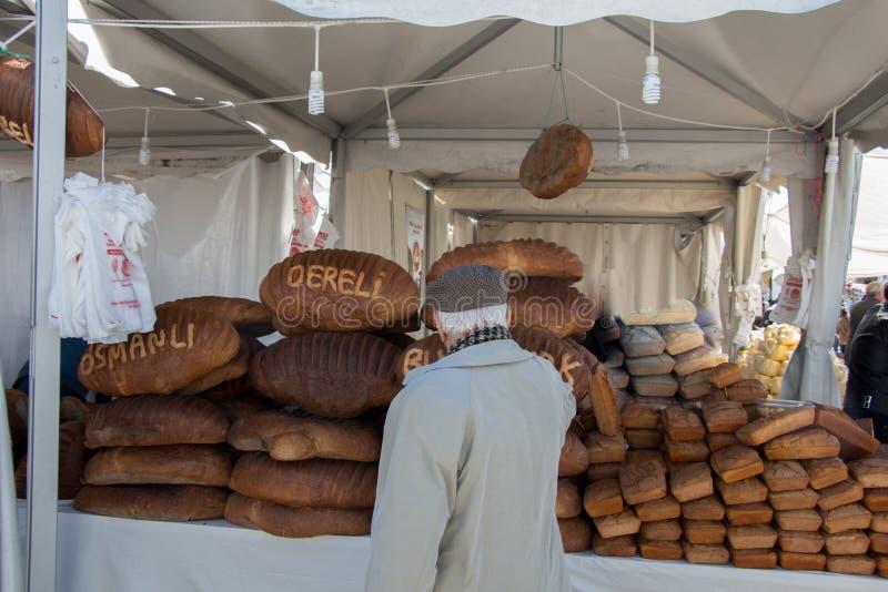 传统土耳其样式做了面包 免版税图库摄影