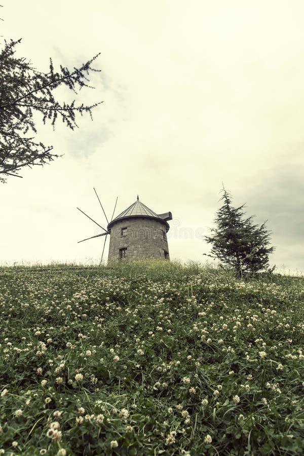 传统土耳其老石磨房 风景, 免版税库存图片