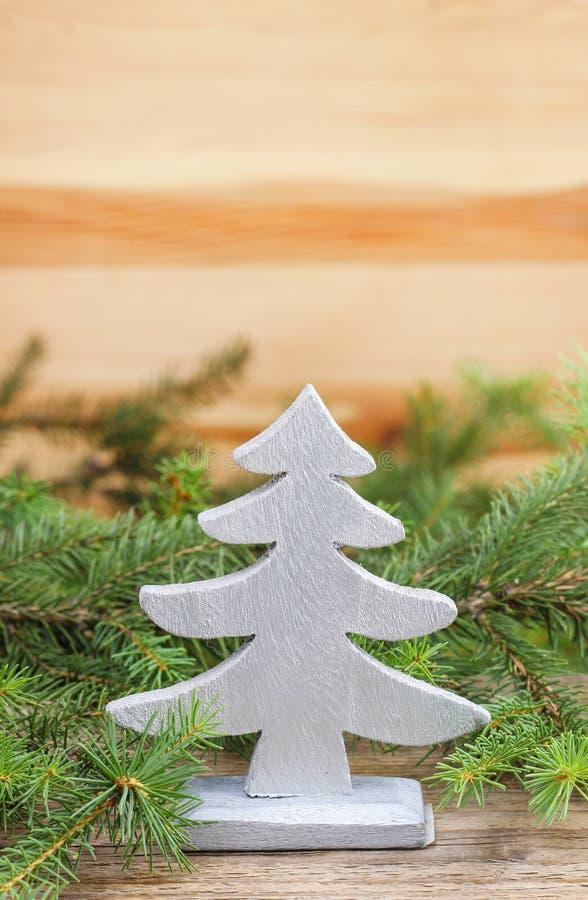 传统圣诞树装饰 图库摄影