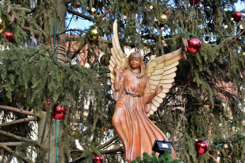 传统圣诞树 免版税库存照片