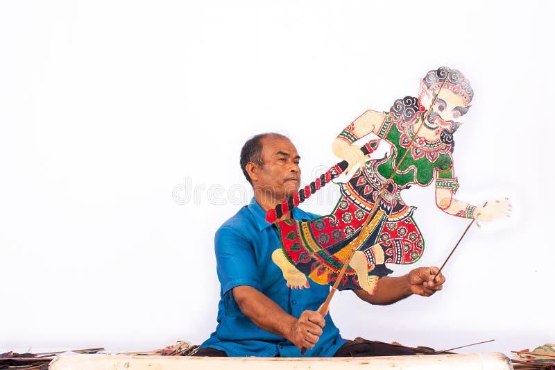 传统在泰国阴影木偶戏南部 库存图片