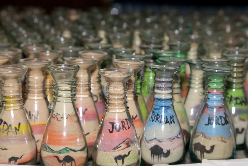 传统地方纪念品在约旦,中东 库存图片