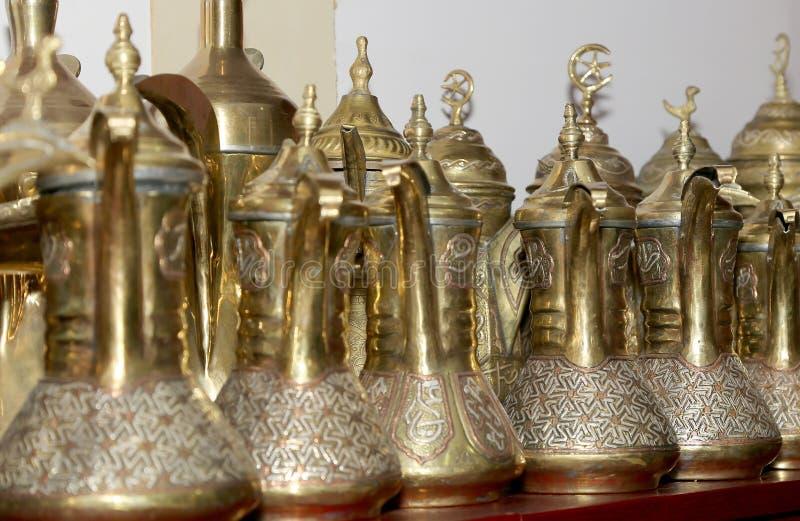 传统地方纪念品在约旦,中东 库存照片