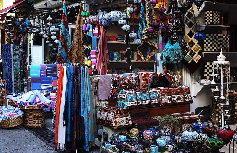 传统地道土耳其市场市场 免版税库存图片