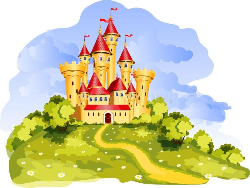 传说城堡 向量例证