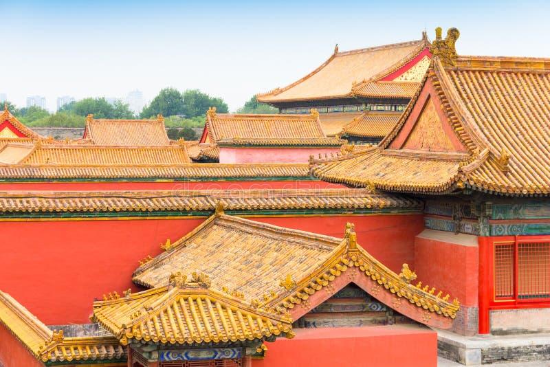 传统屋顶在北京的故宫,中国图片